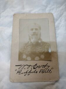 Antique Buffalo Bill William Cody Autographed Cabinet Photograph & Back Signed
