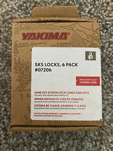 Yakima SKS Locks 6 Pack 07206 with Keys A139 NEW