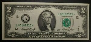 1976 $2 Star note Uncirculated low serial # BP # 3 Shift Error note