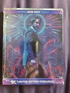 John Wick Trilogy 4k Steelbook NEW