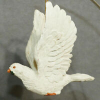 Christmas Ornament Ceramic Bird of Peace Dove Flying Wings Up 4""