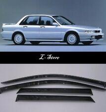 Side Window Visors Sun Guard Vent Deflectors for Mitsubishi Galant Sd 1988-1992