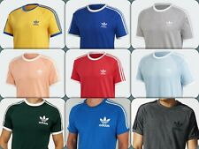 Adidas Originals 3 Stripes Mens Retro California Short Sleeve Crew Neck Tshirt