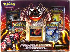Pokemon Primal Groudon EX Collection Box (4 Boosters, Figure, and Promo) NEW