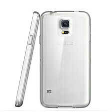 Samsung Galaxy S5  Case Cover Thin Clear Transparent Rubber Silicone Gel New