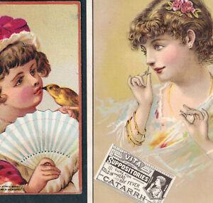 Nasal Electric Battery Quack 1880's Catarrh Hay Fever Vita Cold Victorian Card