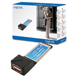Laptop Notebook ExpressCard 2x eSATA II Erweiterung Schnittstellenkarte