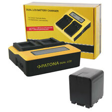 PATONA Dual Ladegerät mit 1 Akku für Panasonic HDC-HS800 HS900 SD800 ACCU Li-ion
