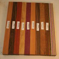 "Zebrano 3/"" x 3/"" x 12/"" Woodturning Square"