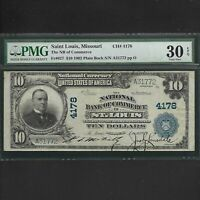 FR-627 $10 1902 NATIONAL BANK NOTE PMG 30 EXCEPTIONAL PAPER QUALITY SHIPS FREE