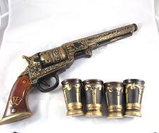 Barware DECANTER for vodka whiskey brandy alcohol Bottle like GUN COLT, Military