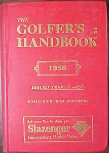 1956 THE GOLFER'S HANDBOOK HARDCOVER BOOK! WORLD WIDE GOLF STATISTICS- ENGLAND