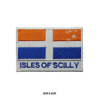 ISLES OF SCILLY County Flag With Name Embroidered Patch Iron on Sew On Badge