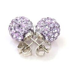 5Stk Kristall Disco Ball Beads Perlen Strasssteine DIY Schmuck 12mm Hell Lila