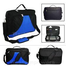 18 18.4 Inch Laptop Messenger bag case briefcase Blue Black for Macbook air/pro