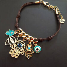 Palm Women Bracelet Hamsa Jewelry Gift c Unique Evil Eye Rope Fatima Charm Hand