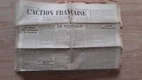 Diario Nacionalista ACCIÓN Francesa 2 Septembre 1934 N º 245 ABE