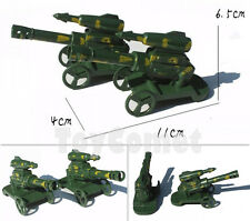 2 pcs Military Cannon Camo Green Model Plastic Toy Soldier Army Men Accessories