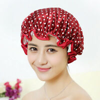 Women Shower Caps Colorful Bath Shower Hair Cover Adults Waterproof Bathing FT