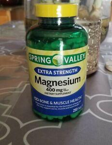 Spring Valley Magnesium 400mg 250 Caplets dietary supplement bone 920l51pb16