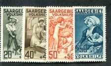 Saar B1-B4 Mint complete set, Hinged