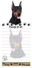 Doberman Dog Diecut List Pad Notes Notepad Magnetic Magnet Refrigerator