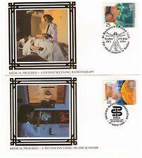 GREAT BRITAIN 1994 EUROPA MEDICAL DISCOVERIES SET OF 4 BENHAM SILK FDI POSTCARDS