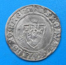 Charles VII blanc à la couronne 3ème émission Tours , Duplessy 519B