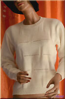 Pull blanc cassé  taille 38/40 ref 0717145