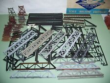 HO SCALE LIFE LIKE / TYCO BRIDGES AND TRESTLE SET PIECES AND PARTS LOT