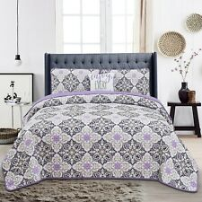 Quilt Sets 4 Piece Down Alternative Bedding Set with Shams and Decorative Pillow