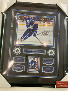 AUSTON MATTHEWS AUTOGRAPH 8X10 PHOTO 16X20 FRAME - TORONTO MAPLE LEAFS