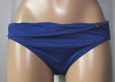 NEW Ralph Lauren LR6GB96 OCN Blue Solid Sash Swimwear Hipster Bikini Bottom 8
