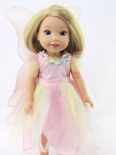 """Pink Pastel Fairy Dress Outfit Fits Wellie Wishers 14.5"""" American Girl Clothes"""