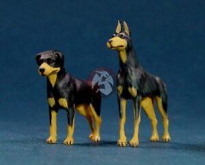 Legend 1/48 Dogs Set (2 Dogs, 1 Rottweiler & 1 Doberman Pinscher) [Resin] LF4809