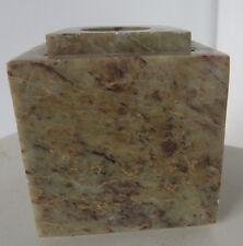 Vintage Marble Stone India Pen Holder Incense Burner Candle Speckle Brown