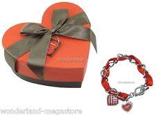BRACCIALE donna I LOVE CHOCOLATE 2 ciondoli CUORE Braccialetto San Valentino