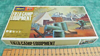 VINTAGE HASEGAWA 1/72 FIELD CAMP EQUIPMENT ~ MB - 031 ~ NEW OLD STOCK