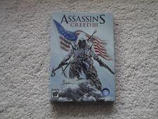 Assassins Creed III Case Steel Book Empty Metal Tin Case