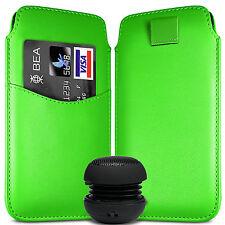 Case Cover Custodia Finta Pelle a Linguetta Tasca Schede E Speaker x Telef. Sony