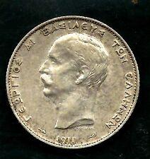 Greece, 1911(a), 2 Drachma, 0.8350 Silver, Extra Fine, Km#61.