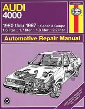 Audi 4000, 1980 Thru 1987 No. 165 by John Haynes and A. K. Legg (1983,...