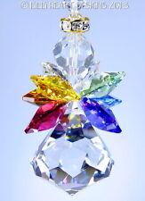 m/w Swarovski Bell Quadruple Winged Rainbow Angel SunCatcher Lilli Heart Designs