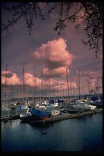 007088 Pink Clouds Over Marina A4 Photo Print
