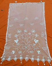 Antique French Tambour lace net lace curtain? 84� x 56�
