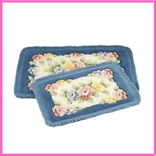 Carpet Mat Rug Flower Printing Classic Anti Slip Floor Toilet Rug Bathroom Rug