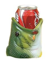 River's Edge Rubber Bass Novelty Fish Head Can Cooler Beer Pop Koozie NEW