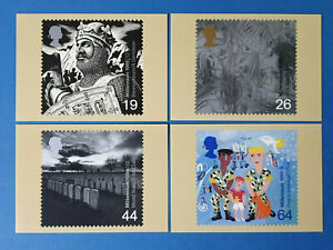 Set of 4 PHQ Stamp Postcards Set No.212 The Soldiers Tale Millennium 1999 FW7