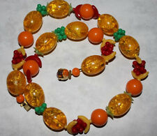 WEST GERMANY signed FRUIT NECKLACE--NICE!!!!