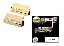 Duncan SH-4/SH-2n Hot Rodded Humbucker Pickup Set, Gold+Page Wiring Harness